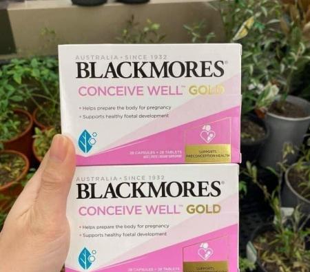 Blackmores Conceive Well Gold Tăng Khả Năng Thụ Thai Cho Nữ 56 viên