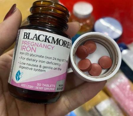 Viên Sắt Cho Bà Bầu Blackmores Pregnancy Iron 30 vien