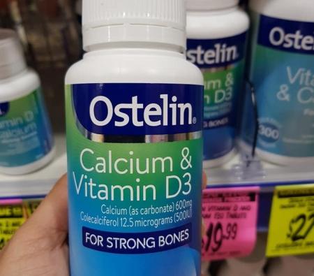 Bổ sung canxi và vitamin D cho bà bầu Ostelin Vitamin D 130 viên